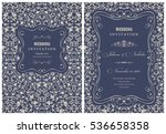 wedding invitation cards in an... | Shutterstock .eps vector #536658358