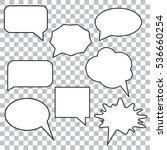 bubble speech set | Shutterstock .eps vector #536660254