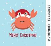 crab cartoon character. a cute... | Shutterstock .eps vector #536660899
