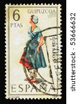 spain   circa 1968  a stamp... | Shutterstock . vector #53666632