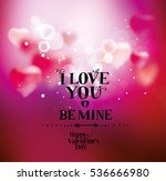background with hearts for... | Shutterstock .eps vector #536666980