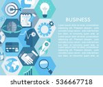 business concept  with flat... | Shutterstock .eps vector #536667718
