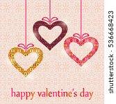 happy valentine's day card...   Shutterstock .eps vector #536668423