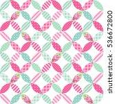 cute seamless vintage pattern... | Shutterstock . vector #536672800
