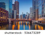 chicago downtown. cityscape... | Shutterstock . vector #536673289