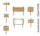 wood arrow sign vector set....   Shutterstock .eps vector #536675398