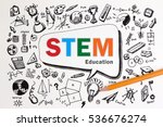 copy space on stem education... | Shutterstock . vector #536676274
