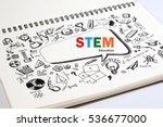 doodle of stem education... | Shutterstock . vector #536677000