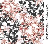 seamless pattern of wild... | Shutterstock . vector #536679526