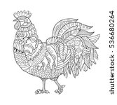 rooster coloring book for...   Shutterstock .eps vector #536680264