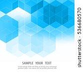 vector abstract science... | Shutterstock .eps vector #536680570