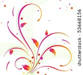 abstract floral background | Shutterstock .eps vector #53668156