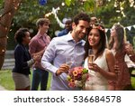 portrait of couple celebrating... | Shutterstock . vector #536684578
