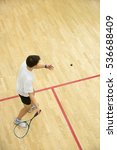 Squash Player In Action On...