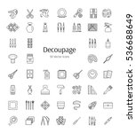 decoupage tools and accessories.... | Shutterstock .eps vector #536688649