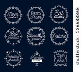 vector set of eco badges with... | Shutterstock .eps vector #536688868