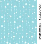 seamless pattern with stars and ... | Shutterstock .eps vector #536690920