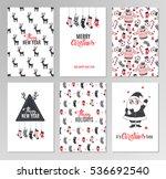 christmas hand drawn printable... | Shutterstock .eps vector #536692540