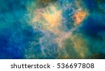 blue green yellow galaxy... | Shutterstock . vector #536697808