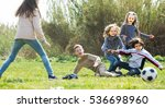 group of children running after ... | Shutterstock . vector #536698960