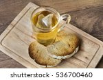 herbal tea and toast  for... | Shutterstock . vector #536700460