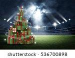 3d present boxes  christmas... | Shutterstock . vector #536700898