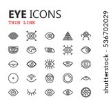 simple modern set of eyes icons.... | Shutterstock .eps vector #536702029