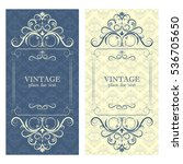 invitation. beautiful vintage... | Shutterstock .eps vector #536705650