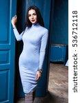 sexy brunette woman skinny... | Shutterstock . vector #536712118