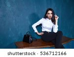 beautiful sexy young business... | Shutterstock . vector #536712166