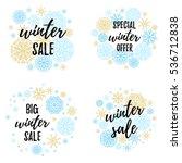 christmas sale  big winter sale ... | Shutterstock .eps vector #536712838