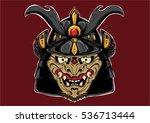 japan samurai warrior mask... | Shutterstock .eps vector #536713444