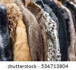 a row of vintage coats made of...   Shutterstock . vector #536713804