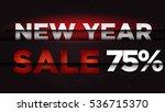new year sale . big winter sale ... | Shutterstock .eps vector #536715370