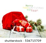 christmas decoration over... | Shutterstock . vector #536715709
