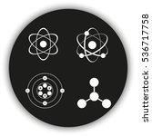 atom icon set. | Shutterstock . vector #536717758
