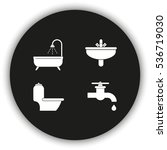 icon of bathroom equipment. | Shutterstock . vector #536719030