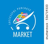 template design logo market.... | Shutterstock .eps vector #536719333