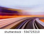 speed motion in urban highway...   Shutterstock . vector #536725213