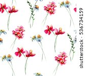 seamless wallpaper with... | Shutterstock . vector #536734159