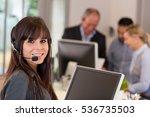 young secretary in office | Shutterstock . vector #536735503