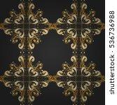 seamless vintage pattern on dim ... | Shutterstock .eps vector #536736988