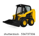 Skid Steer Loader. 3d Rendering