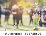 sport trophy over blur crowded... | Shutterstock . vector #536738608