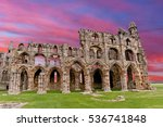 Whitby Abbey Ruins England...