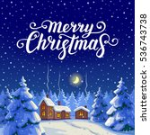 merry christmas text.... | Shutterstock .eps vector #536743738