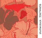 vector flower concept on a... | Shutterstock .eps vector #536744656