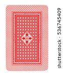 isolated on white poker red car ... | Shutterstock . vector #536745409