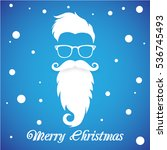 postcard with santa claus and... | Shutterstock .eps vector #536745493