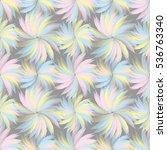 tender floral seamless pattern... | Shutterstock .eps vector #536763340